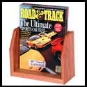 8 1/2w x 7h x 2 3/8d Wood Magazine Holder: Wood/Counter