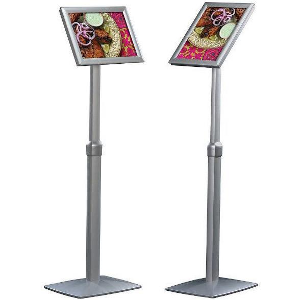 11 x 17 Floor Pedestal Sign Frame | Adjustable Orientation, Telescopic