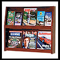 26 3/4w x 11 1/2h x 1 1/4d (12) Brochure/(6) Literature & Book Rack: 2 Shelves/Wall