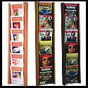 9 1/2w x 12h x 3/4d (12) Brochure/(6) Literature Display: Acrylic Overlapping/Dividers/Wall