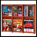 9w x 12h x 2d (12) Brochure/(6) Magazine Literature Rack: Acrylic Front/Dividers/Wall