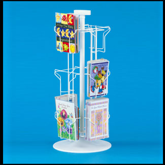 Main1 12 Pocket Greeting Card Spinner Rack Counter Holds 5 1 2w