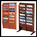 9w x 8h x 3/4d (14) Pocket Magazine Rack: Overlapping/Floor/Wall