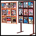 9w x 12h x 2d (18) Brochure/(9) Magazine Literature Rack: Acrylic Front/Dividers/Floor/Wall