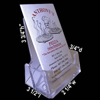 Tall plastic vertical business card holder 2 14w x 3 34h x 34d main 2 14w x 3 34h x 34d colourmoves