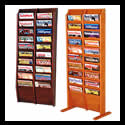 9w x 8h x 3/4d (20) Pocket Magazine Rack: Overlapping/Floor/Wall
