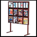 9w x 12h x 2d (24) Brochure/(12) Combination Rack: Acrylic Front/Dividers/Wall/Floor