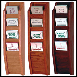 4 Pocket Wall Mounted Brochure Rack