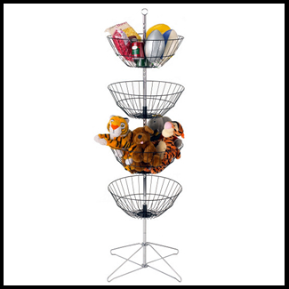 4 Tiered Wire Basket Stand Or Basket Display Spinners
