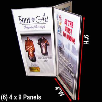 Fabulous Table Top Menu Holder Six Panels Holds 4 X 9 Menu Cards Home Interior And Landscaping Sapresignezvosmurscom
