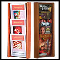 9 1/2w x 12h x 3/4d (6) Brochure/(3) Magazine Literature Rack: Acrylic Overlapping/Wall