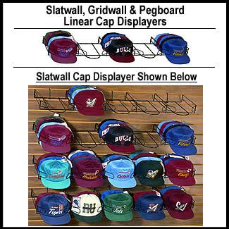 5 Pocket Linear Cap Displays Or Wall Cap Racks For