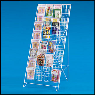 60 pocket greeting card rack stand holds 5 12w x 8h greeting cards main 60 pocket greeting card holder floor 5 12w x 8h m4hsunfo