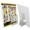 8 1/2 x 11 Cardboard Display: White w/Pocket & Label