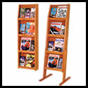 13 1/2w x 11 1/2h x 1 1/4d (8) Brochure/(4) Literature Organizer: 4 Shelves/Floor/Wall