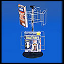 8 1/2w x 11h x 2d (8) Pocket/(2) Tier Wire Literature Rack: Spinner/Counter