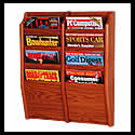 9w x 8h x 3/4d (8) Pocket Magazine Rack: Overlapping/Wall