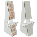 "8"" Easel Back: Double Wing White, Heavy Duty 50 Pt Chipboard"