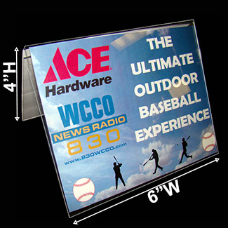 Main-6w x 4h Panels - Table Tent Sign Holder 2 Ads & Table Tent Card Holder: Displays Two 6