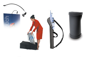 banner, trades how exhibit travel cases, lights & accessories