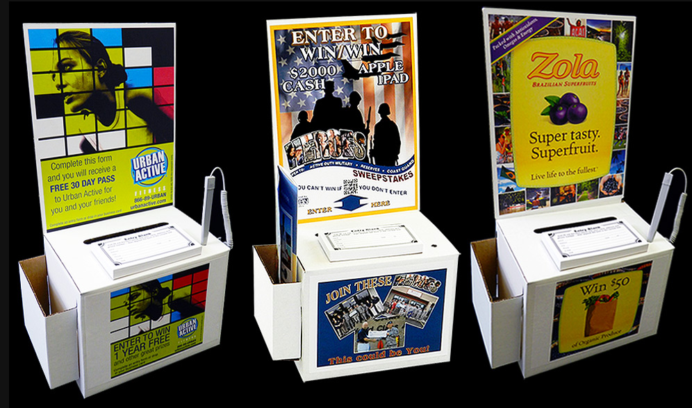 Cardboard Suggestion Box   Imprinted Labels & Brochure Pocket