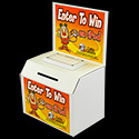 9w x 7 1/2h x 6d w/9w x 7h Header: Cardboard Enter To Win Box/2 Labels