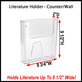 8 3 4 Quot Wide Clear Plastic Literature Holder Or Magazine