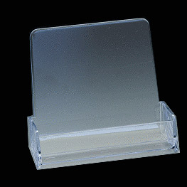 main 3 12w x 34d countertop business card holder - Plastic Business Card Holders