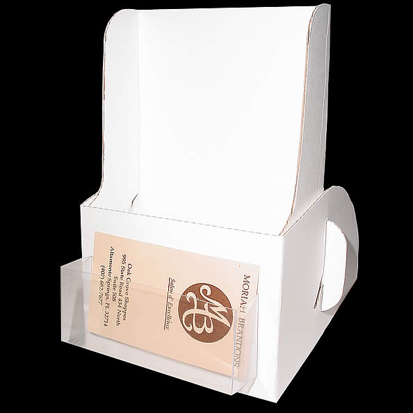 Cardboard Brochure Holder With Business Card Pocket Delectable Cardboard Card Display Stand