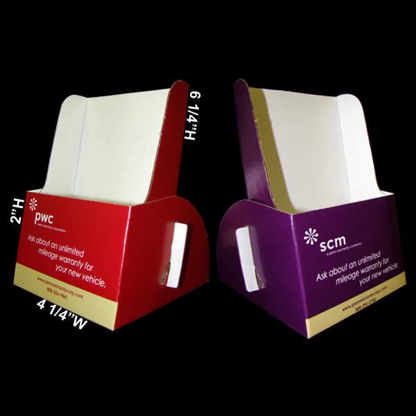 creative cardboard brochure holder
