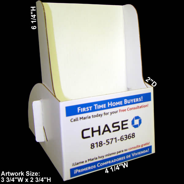cardboard brochure holder with printed label  holds 4 u0026quot  x 9