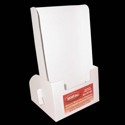 5w x 9h x 2d cardboard leaflet holder 1 label