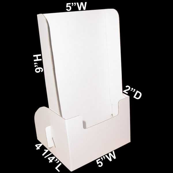 Tall cardboard leaflet dispenser 5quot x 9quot x 2quot for Cardboard business card holder template