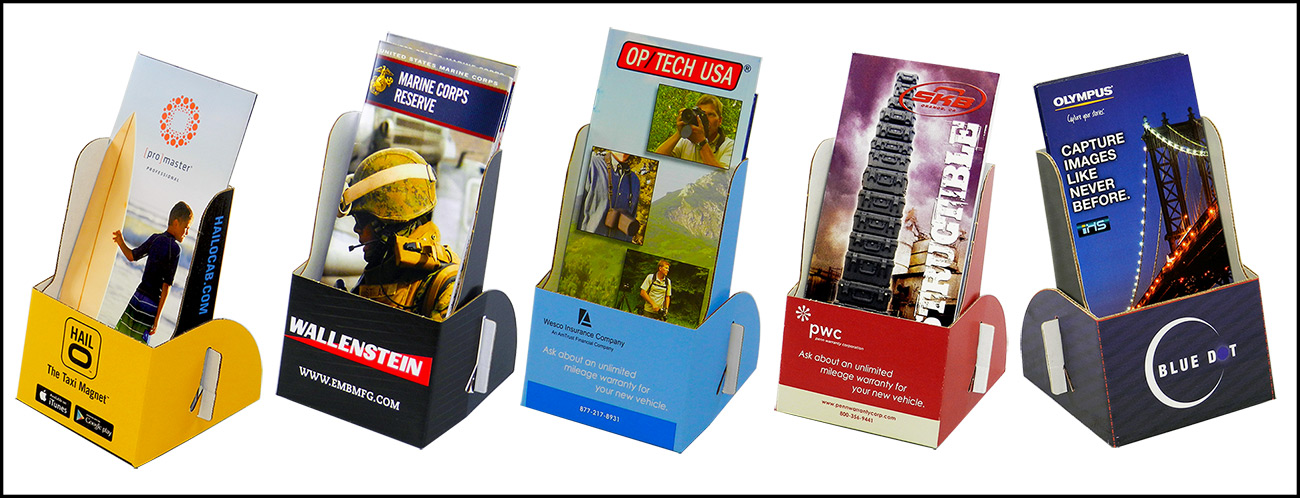 Printed Cardboard Brochure Holder Interesting Cardboard Card Display Stand