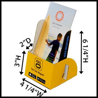 Custom Cardboard Brochure Holder | Creative Personalized Printing!