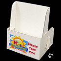 5 x 6 1/4 x 2 Cardboard Literature Holder: 1 Label