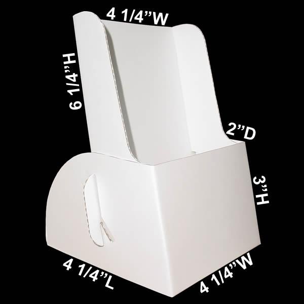 cardboard brochure holder  holds 4 u0026quot  x 9 u0026quot  trifold literature