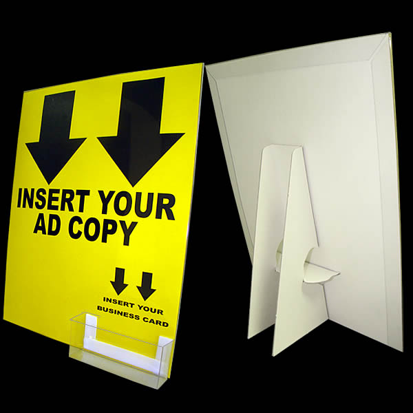 White cardboard display with display cover business card pocket main1 8 12 x 11 white wclear cover business colourmoves