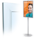 22 x 28, 24 x 36 Sign Holder: Snap Open/2 Sided/Metered/Clear Lens