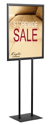 22 x 28 Poster Sign Holder: 2 Sided/Black or Silver