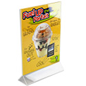 8 1/2w x 11h Sign Holder: Top Load/2 Ads