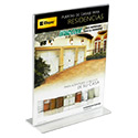 8 1/2w x 11h Panels - Sign Holder: Upright/2 Ads/Opt Pockets