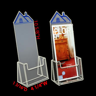Real Estate Brochure holder with Roof Top