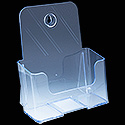 6.375w x 7.75h x 1.5d Plastic Pamphlet Holder: Counter/Wall Mount