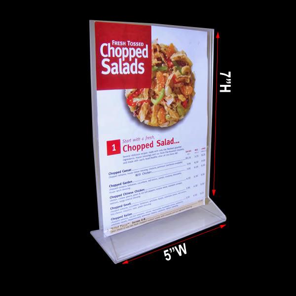 menu stand  displays 5 u0026quot  x 7 u0026quot  restaurant menu cards