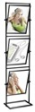 22 x 28 Poster Stand: 2 Sided/3 Tilting Tiers/Black or Silver