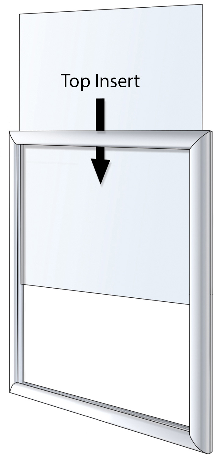 22 x 28, 24 x 36, 22 x 56 Floor Sign Stand, Drop-In Frame, 2 Sided
