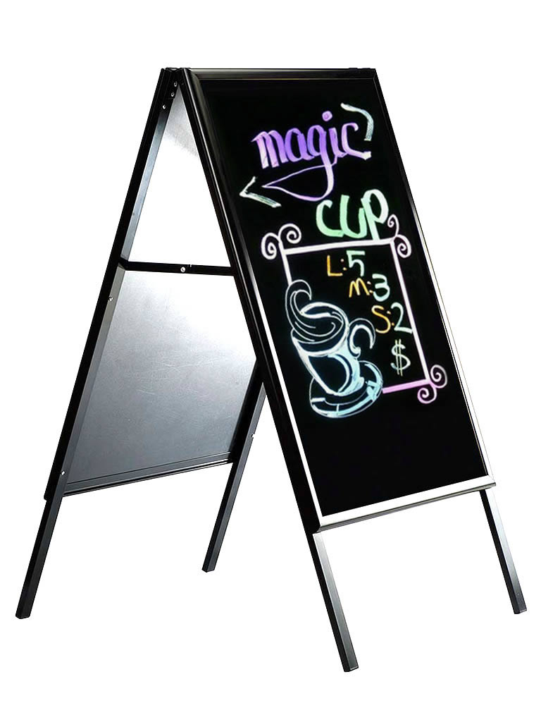 22 x 28 black dry erase write on a frame. Black Bedroom Furniture Sets. Home Design Ideas