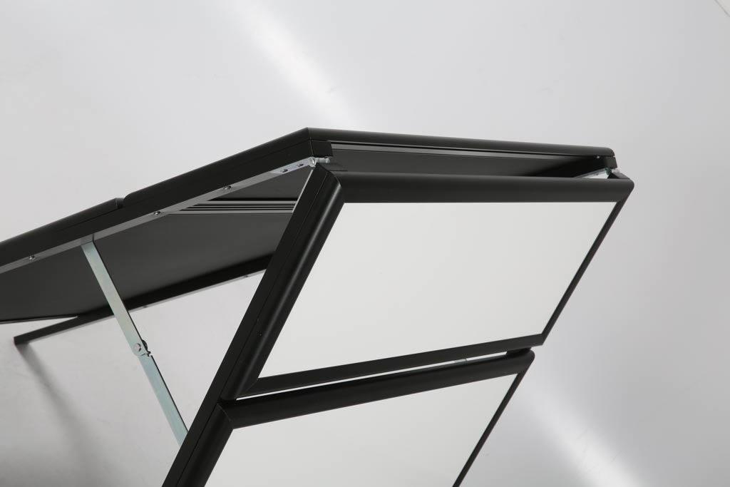 "22"" x 28"" White Dry Erase Write-On A Frame: Black Frame"