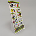 4 1/8w x 7 1/4h x 1 1/4d Acrylic Brochure Holder